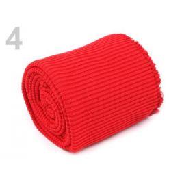 Elastické úplety šírka 7 cm sada (2x rukáv, 1x pás) červená 1sada