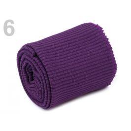 Elastické úplety šírka 7 cm sada (2x rukáv, 1x pás) fialová lilková 1sada