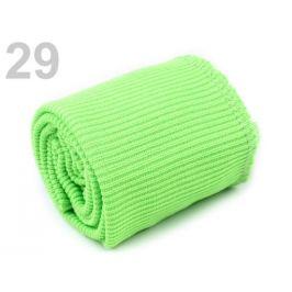 Elastické úplety šírka 7 cm sada (2x rukáv, 1x pás) Green Yelow 1sada