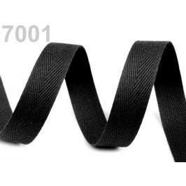 Keprovka - tkaloun šírka 16 mm čierna 50m