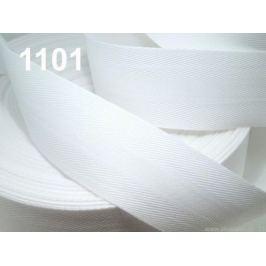 Keprovka - tkaloun  šírka 40 mm biela 50m