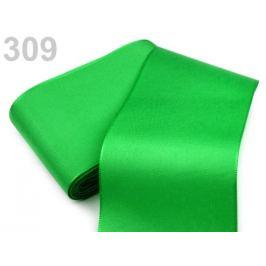 Stuha taftová šírka 72mm zelená irská 10m