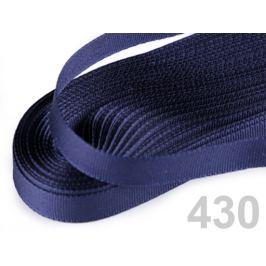Stuha taftová šírka 9mm modrá tmavá 10m