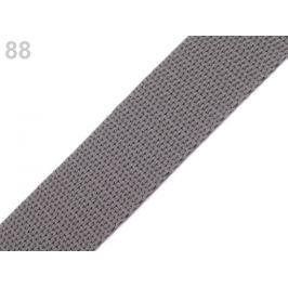 Popruh polypropylénový šírka 25 mm šedá perlovo 5m