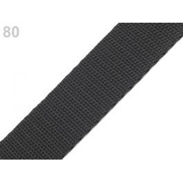 Popruh polypropylénový šírka 30 mm šedočierna tm. 5m