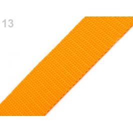 Popruh polypropylénový šírka 30 mm oranžovožltá 5m