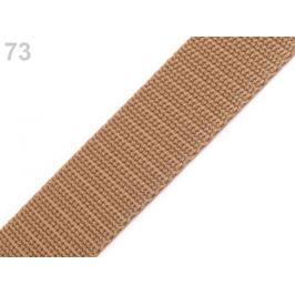 Popruh polypropylénový šírka 30 mm hnedá prírodná 5m