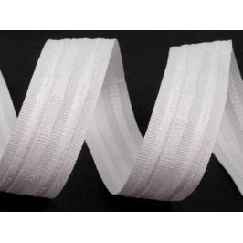Záclonová lemovka dvoj skladová šírka 25 mm White 100m