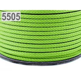 Odevná šnúra PES Ø4 mm Green Yelow 100m