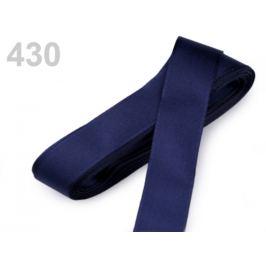 Stuha taftová šírka 15mm modrá tmavá 10m