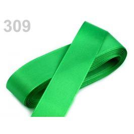 Stuha taftová  šírka 25mm zelená irská 10m