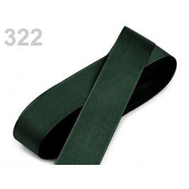 Stuha taftová  šírka 25mm zelená khaki 10m