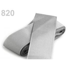 Stuha taftová šírka 40mm šedá najsv. 10m