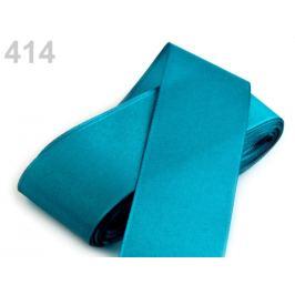 Stuha taftová šírka 40mm modrá tyrkys. 10m