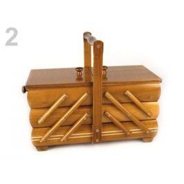 Kazeta / košík na šitie rozkladacia malá hnedá sv. 1ks
