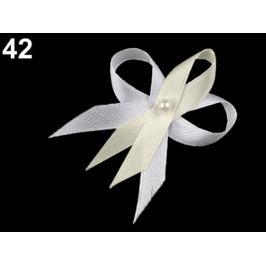 Svadobné mašličky / kotilion  šírka 35 mm saténové Off White 100ks