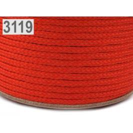 Odevná šnúra PES Ø2 mm červená 50m