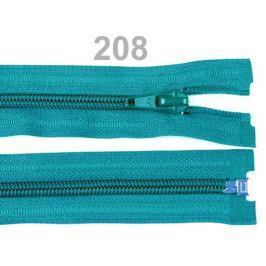 Špirálový zips šírka 5 mm dĺžka 40 cm bundový POL Cyan Blue 1ks