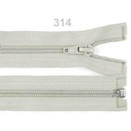 Špirálový zips šírka 5 mm dĺžka 60 cm bundový POL popiel 1ks