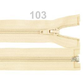 Špirálový zips šírka 5 mm dĺžka 65 cm bundový POL Afterglow 1ks