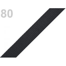 Popruh polypropylénový šírka 15 mm šedočierna tm. 5m