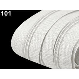 Zips špirálový 3 mm metráž pre bežce typu POL White 5m