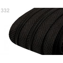 Zips špirálový 3 mm metráž pre bežce typu POL Black 5m