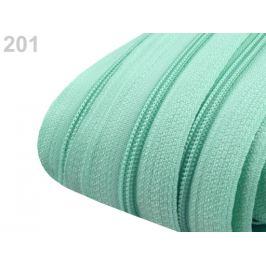 Zips špirálový 3 mm metráž pre bežce typu POL Bleached Aqua 5m
