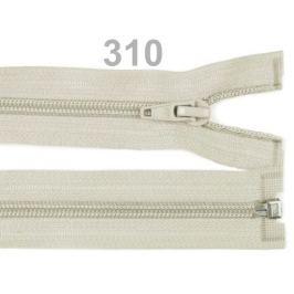 Špirálový zips šírka 5 mm dĺžka 80 cm bundový POL Bone White 1ks