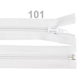 Špirálový zips šírka 5 mm dĺžka 85 cm bundový POL White 1ks
