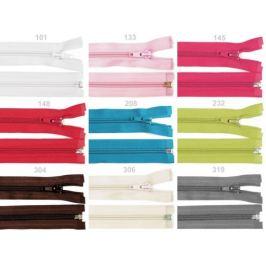 Špirálový zips šírka 5 mm dĺžka 30 cm bundový POL Black 1ks