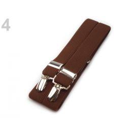 Traky šírka 2,5 cm dĺžka 125 cm hnedá koňak 1ks