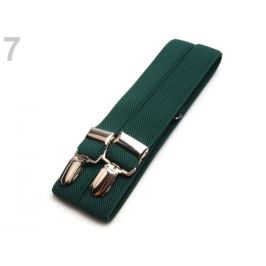 Traky šírka 2,5 cm dĺžka 125 cm zelená lesná 1ks