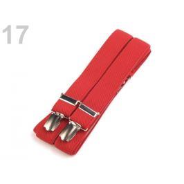 Traky šírka 2,5 cm dĺžka 125 cm červená 1ks
