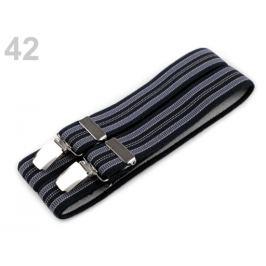 Traky šírka 3 cm dĺžka 125 cm modrá parížska 1ks