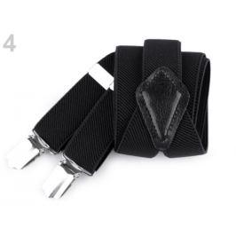Detské traky jednofarebné čierna 1ks