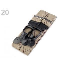Traky šírka 3,5 cm, dĺžka 120 cm béžová sv. 1ks