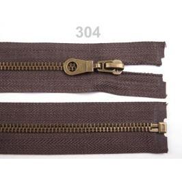 Staromosadzný zips šírka 6 mm dĺžka 60 cm bundový Chocolate Brown 1ks Stoklasa