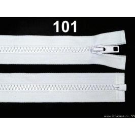 Kostený zips šírka 5 mm dĺžka 30 cm bundový White 1ks Stoklasa