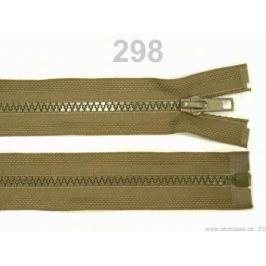 Kostený zips šírka 5 mm dĺžka 45 cm bundový Beech 1ks Stoklasa