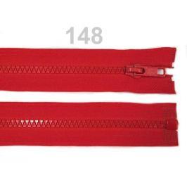Kostený zips šírka 5 mm dĺžka 55 cm bundový High Risk Red 1ks Stoklasa