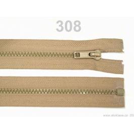 Kostený zips šírka 5 mm dĺžka 60 cm bundový Prairie Sand 1ks Stoklasa