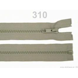 Kostený zips šírka 5 mm dĺžka 65 cm bundový Bone White 1ks Stoklasa