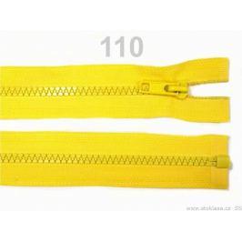 Kostený zips šírka 5 mm dĺžka 65 cm bundový Lemon 1ks Stoklasa