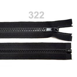 Kostený zips šírka 5 mm dĺžka 75 cm bundový Black 1ks Stoklasa