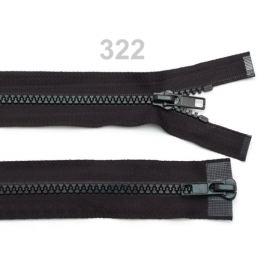 Zips kostený 5mm deliteľný 2 bežce 70 cm bundový Black 1ks Stoklasa