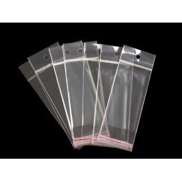 Celofánové sáčiky s lepiacou lištou a závesom 5x9 cm Transparent 100ks Stoklasa