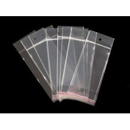 Celofánové sáčiky s lepiacou lištou a závesom 6x10,5 cm Transparent 100ks Stoklasa
