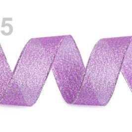Brokátová stuha šírka 25 mm s lurexom fialová gebera 22.5m Stoklasa