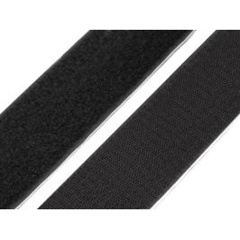 Suchý zips háčik + plyš  samolepiaci šírka 50 mm Black 25m Stoklasa